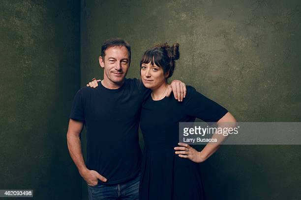 Actor Jason Isaacs and director/writer Nikole Beckwith from Stockholm Pennsylvania pose for a portrait at the Village at the Lift Presented by...