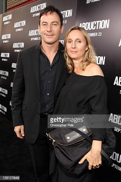 Actor Jason Isaacs and Emma Hewitt arrive at the premiere of Lionsgate Films' Abduction held at Grauman's Chinese Theatre on September 15 2011 in...