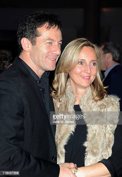 Actor Jason Isaacs and Emma Hewitt attend an after party celebrating the World Premiere of 'Harry Potter And The Deathly Hallows Part 2' at Old...
