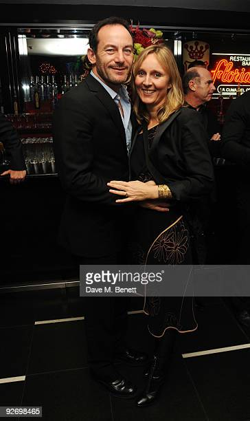 Actor Jason Isaacs and Emma Hewitt attend the aftershow of The Supper Club, at Floridita on November 3, 2009 in London, England.