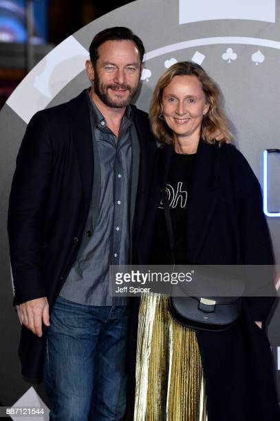 Actor Jason Isaacs and his wife Emma Hewitt attend the 'Molly's Game' UK premiere held at Vue West End on December 6 2017 in London England