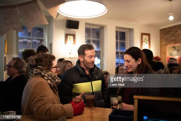 Actor, Jason Isaacs and Lib Dem MP, Luciana Berger are seen out on the streets canvassing during a Liberal Democrat campaign event in Finchley on...