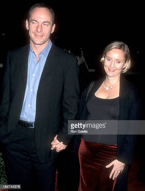 Actor Jason Isaacs and wife Emma Hewitt attend the Black Hawk Down Beverly Hills Premiere on December 18 2001 at Academy of Motion Picture Arts and...