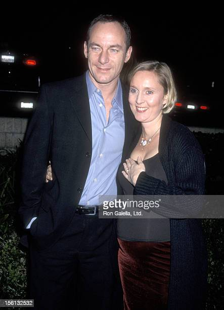 Actor Jason Isaacs and wife Emma Hewitt attend the 'Black Hawk Down' Beverly Hills Premiere on December 18, 2001 at Academy of Motion Picture Arts...