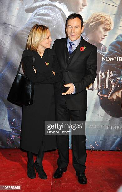 Actor Jason Isaacs and wife Emma Hewitt attend the world premiere of Harry Potter And The Deathly Hallows Part 1 at Odeon Leicester Square on...