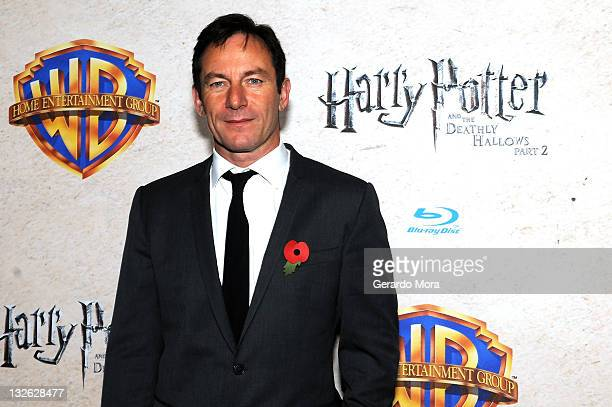 Actor Jason Isaacs arrives at the Harry Potter and the Deathly Hallows: Part 2 Celebration at Universal Orlando on November 12, 2011 in Orlando,...