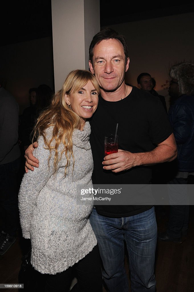 Actor Jason Isaacs (R) attends the Grey Goose Blue Door 'Lovelace' Party on January 22, 2013 in Park City, Utah.