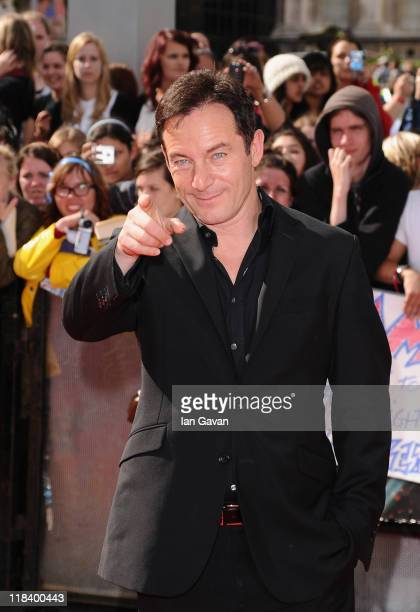 Actor Jason Isaacs attends the World Premiere of Harry Potter and The Deathly Hallows - Part 2 at Trafalgar Square on July 7, 2011 in London, England.