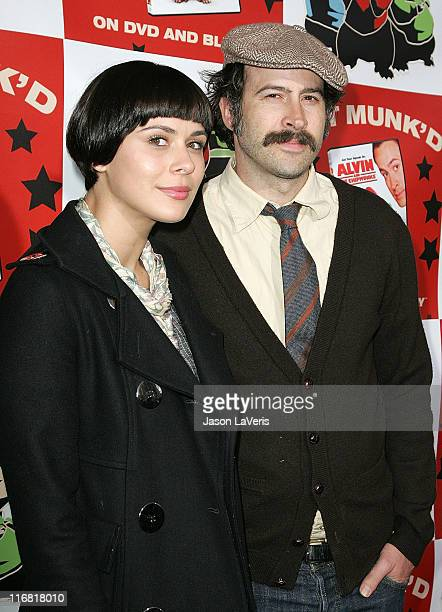 Actor Jason Lee and Ceren Alkac attend Hollywood Gets Munk'd at the El Rey Theater on March 27 2008 in Los Angeles California