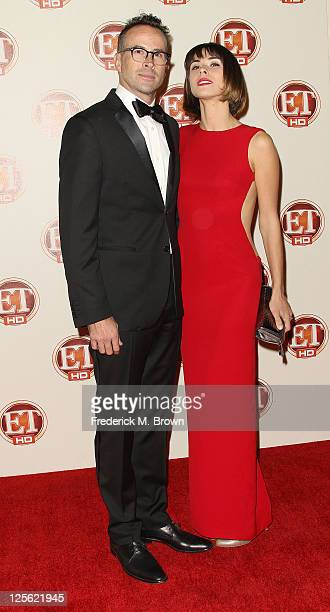 Actor Jason Lee and Ceren Alkac attend the 15th Annual Entertainment Tonight Emmy Party at Vibiana on September 18 2011 in Los Angeles California