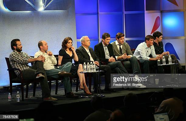 Actor Jason Lee and executive producer Greg Garcia from My Name Is Earl actress Tina Fey and executive producer Lorne Michaels from 30 Rock executive...