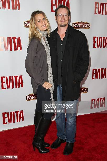 Actor Jason London arrives at the opening night red carpet for 'Evita' at the Pantages Theatre on October 24 2013 in Hollywood California