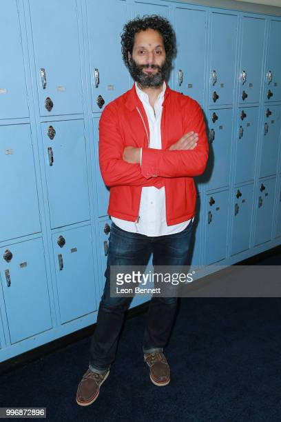 Actor Jason Mantzoukas attends the Screening Of A24's 'Eighth Grade' Arrivals at Le Conte Middle School on July 11 2018 in Los Angeles California