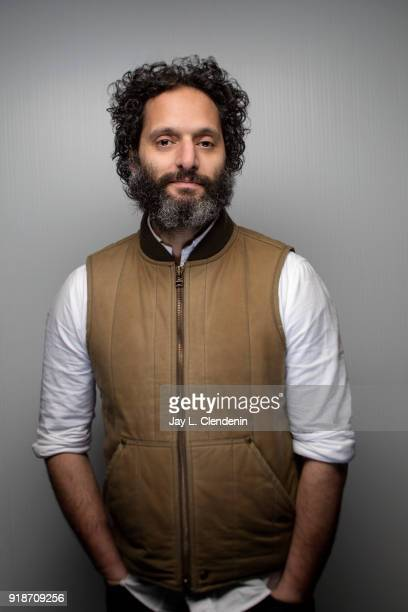 Actor Jason Mantzoukas from the film 'The Long Dumb Road' is photographed for Los Angeles Times on January 19 2018 in the LA Times Studio at Chase...