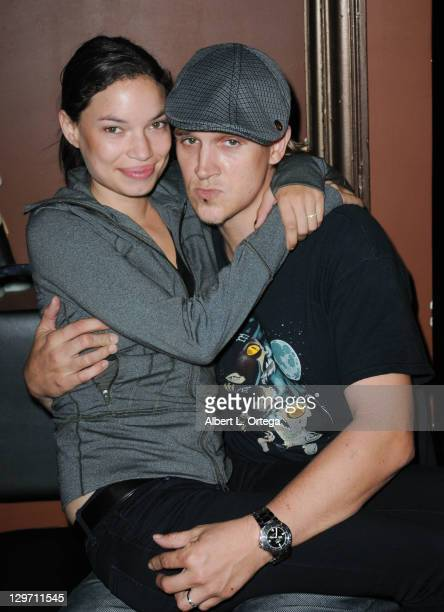 Actor Jason Mewes and wife Jordan Lee Monsanto participate in Shout Factory DVD Release Party For 'Too Fat For 40 SModimations Season One' 'Red...