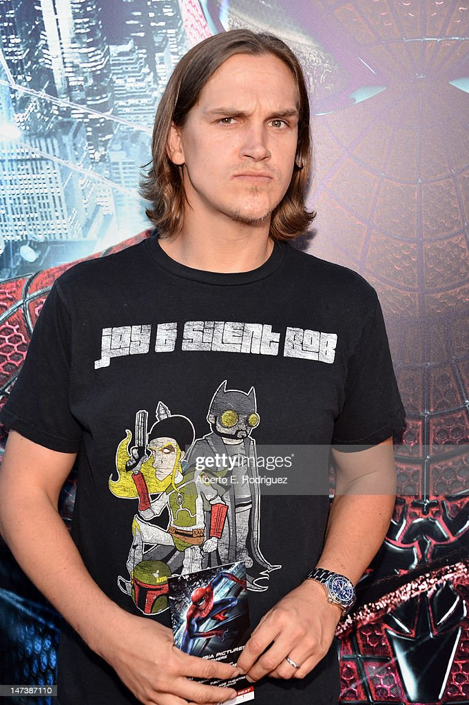 Actor Jason Mewes arrives at the premiere of Columbia Pictures' 'The Amazing Spider-Man' at the Regency Village Theatre on June 28, 2012 in Westwood, California.