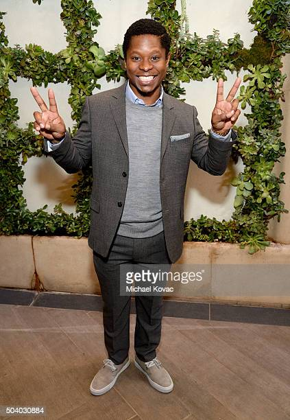 Actor Jason Mitchell attends the 16th Annual AFI Awards at Four Seasons Hotel Los Angeles at Beverly Hills on January 8 2016 in Beverly Hills...