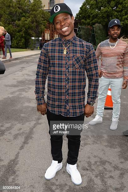 Actor Jason Mitchell attends the 2016 MTV Movie Awards at Warner Bros. Studios on April 9, 2016 in Burbank, California. MTV Movie Awards airs April...