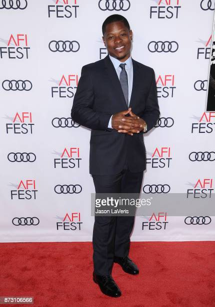 Actor Jason Mitchell attends the 2017 AFI Fest opening night gala screening of 'Mudbound' at TCL Chinese Theatre on November 9 2017 in Hollywood...
