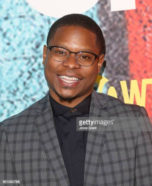 Actor Jason Mitchell attends the premiere of Showtime's The Chi at Downtown Independent on January 3 2018 in Los Angeles California