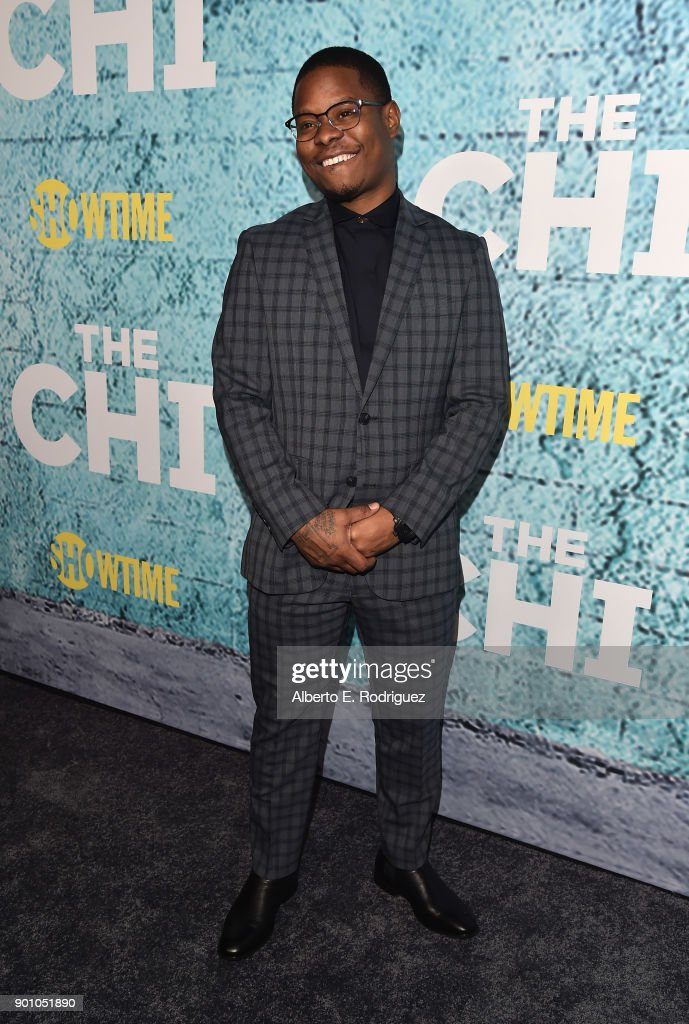 Actor Jason Mitchell attends the premiere of Showtime's 'The Chi' at The Downtown Independent on January 3, 2018 in Los Angeles, California.