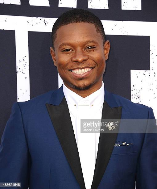 Actor Jason Mitchell attends the premiere of Straight Outta Compton at Microsoft Theater on August 10 2015 in Los Angeles California