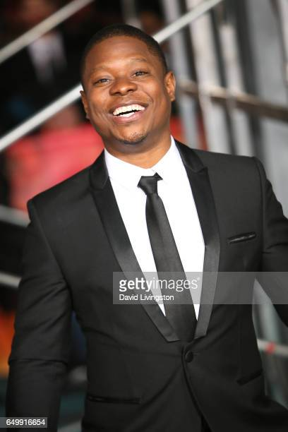 Actor Jason Mitchell attends the premiere of Warner Bros Pictures' 'Kong Skull Island' at Dolby Theatre on March 8 2017 in Hollywood California
