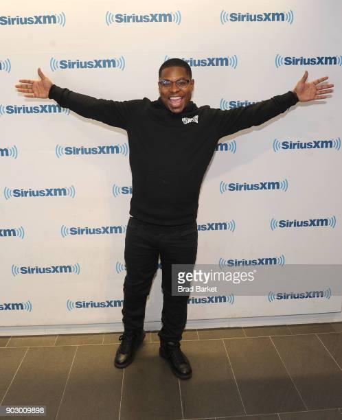 Actor Jason Mitchell vists SiriusXM at SiriusXM Studios on January 9 2018 in New York City