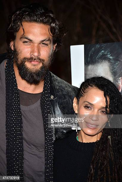 Actor Jason Momoa and actress Lisa Bonet arrive at the Sundance Channel's premiere screening of their new series 'The Red Road' at The Bronson Caves...