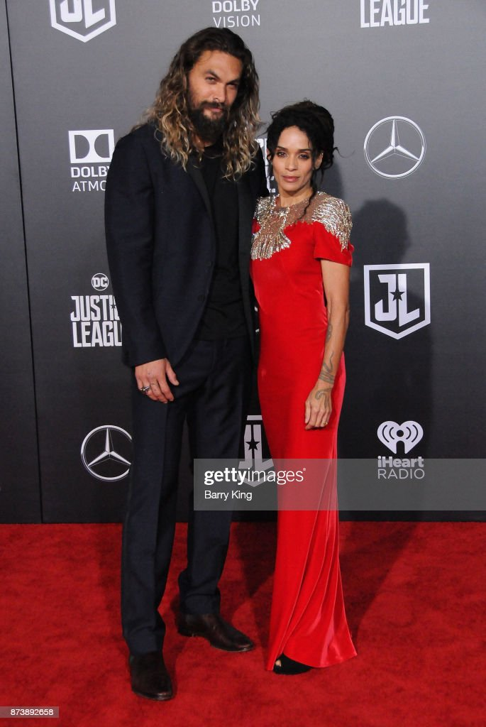 Actor Jason Momoa and actress Lisa Bonet attend the premiere of Warner Bros. Pictures' 'Justice League' at Dolby Theatre on November 13, 2017 in Hollywood, California.