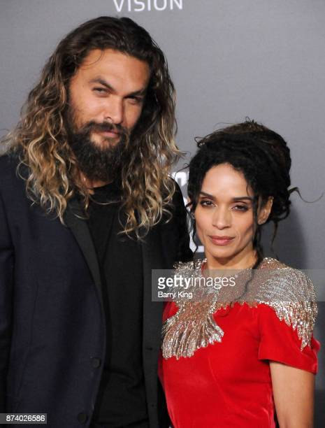 Actor Jason Momoa and actress Lisa Bonet attend the premiere of Warner Bros Pictures' 'Justice League' at Dolby Theatre on November 13 2017 in...