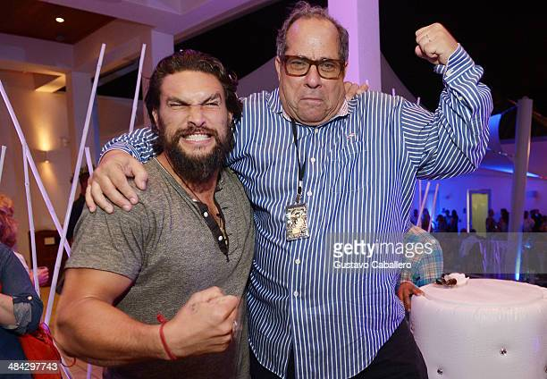 Actor Jason Momoa and Chairman Sarasota Film Festival Mark Famiglio attend Cinema Tropicale during the Sarasota Film Festival at Sarasota Yacht Club...