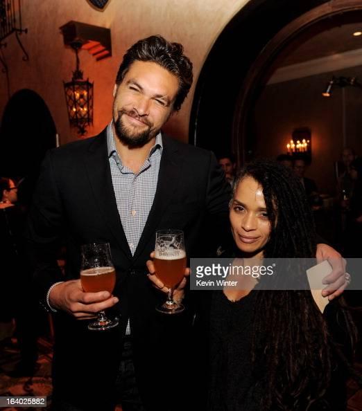 Jason Momoa Wife: Actor Jason Momoa And His Wife Actress Lisa Bonet Pose At