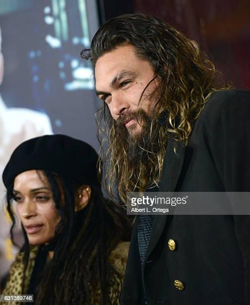 Lisa Bonet And Jason Momoa At The Mad Max Premiere: Jason Momoa And Lisa Bonet Stock Photos And Pictures