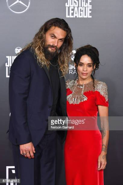 Actor Jason Momoa and Lisa Bonet attend the premiere of Warner Bros Pictures' Justice League at Dolby Theatre on November 13 2017 in Hollywood...