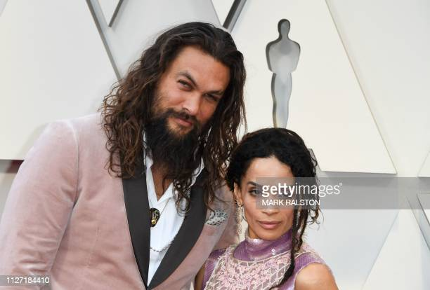 Actor Jason Momoa and wife actress Lisa Bonet arrive for the 91st Annual Academy Awards at the Dolby Theatre in Hollywood California on February 24...