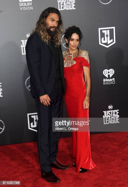 Actor Jason Momoa and wife/actress Lisa Bonet arrive for the Premiere Of Warner Bros Pictures' Justice League held at Dolby Theatre on November 13...