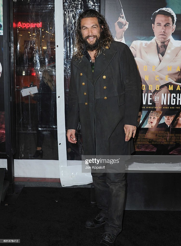 Actor Jason Momoa arrives at the Premiere of 'Live By Night' at TCL Chinese Theatre on January 9, 2017 in Hollywood, California.