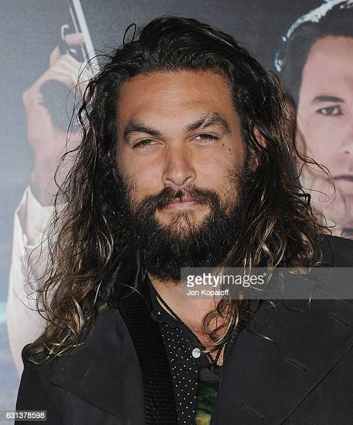 Actor Jason Momoa arrives at the Premiere of Live By Night at TCL Chinese Theatre on January 9 2017 in Hollywood California