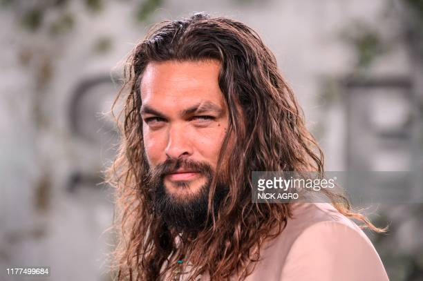 US actor Jason Momoa arrives for Apple TV world premiere of SEE at the Fox Regency Village Theater in Los Angeles on October 21 2019
