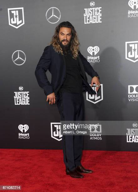 Actor Jason Momoa arrives for the Premiere Of Warner Bros Pictures' Justice League held at Dolby Theatre on November 13 2017 in Hollywood California