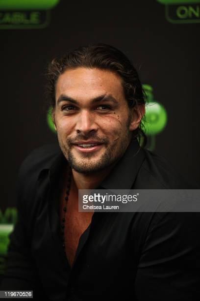 Actor Jason Momoa attends a QA for MOVIES ON DEMAND on July 22 2011 in San Diego California
