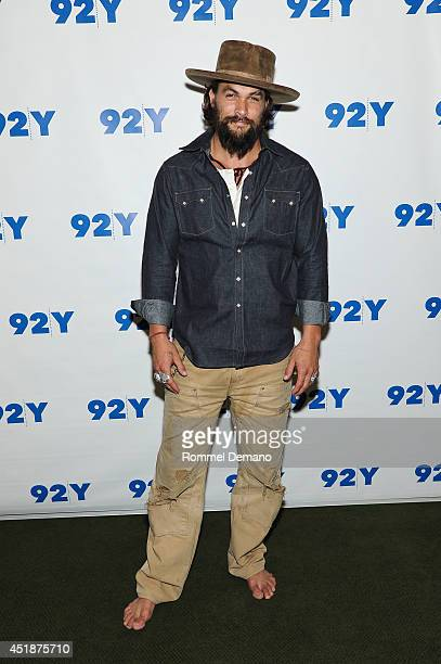 Actor Jason Momoa attends an evening with Jason Momoa and Thelma Adams at 92nd Street Y on July 8 2014 in New York City