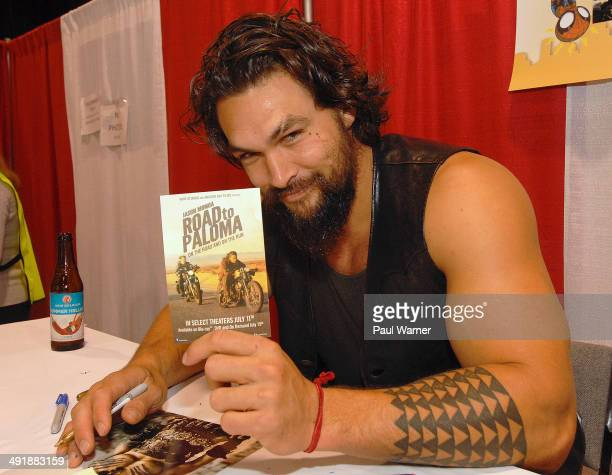 Actor Jason Momoa attends day 2 of the 25th annual Motor City Comic Con at Suburban Collection Showplace on May 17 2014 in Novi Michigan