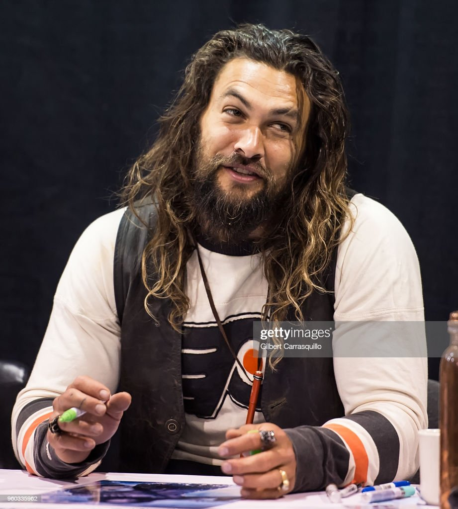 Actor Jason Momoa attends the 2018 Wizard World Comic Con at Pennsylvania Convention Center on May 19, 2018 in Philadelphia, Pennsylvania.