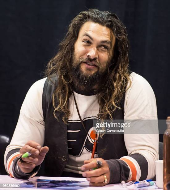 Actor Jason Momoa attends the 2018 Wizard World Comic Con at Pennsylvania Convention Center on May 19 2018 in Philadelphia Pennsylvania