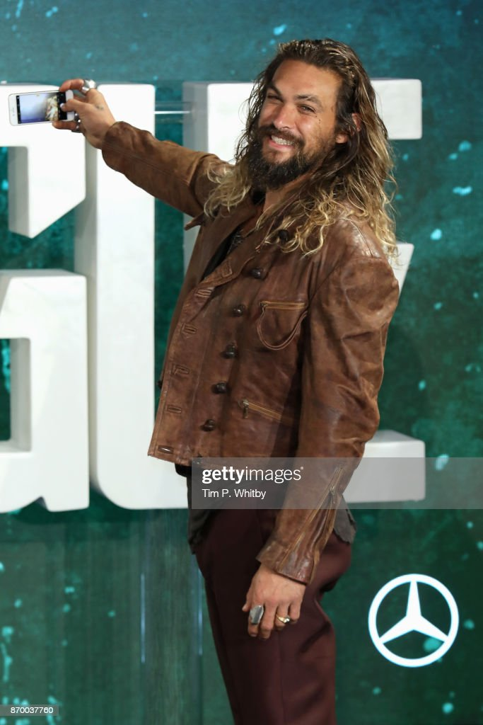 Actor Jason Momoa attends the 'Justice League' photocall at The College on November 4, 2017 in London, England.