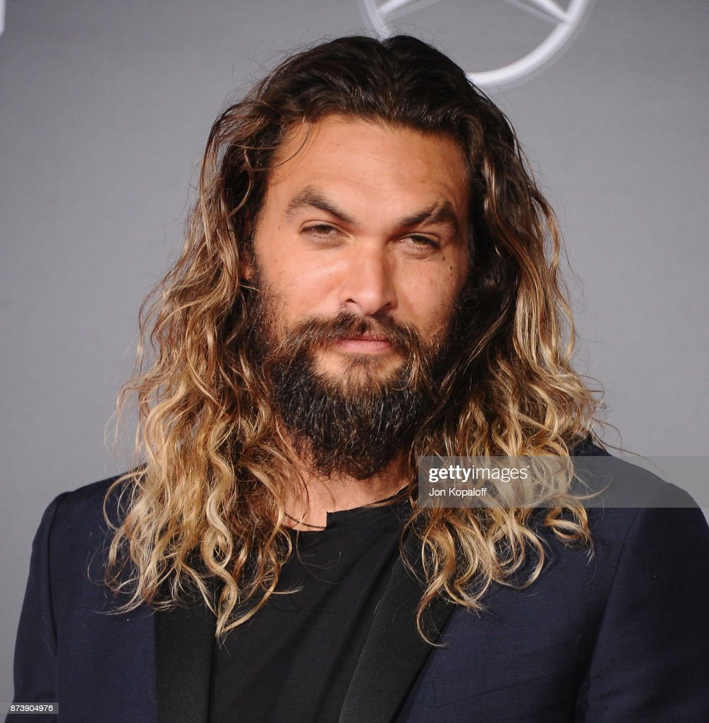 Actor Jason Momoa attends the Los Angeles Premiere of Warner Bros. Pictures' 'Justice League' at Dolby Theatre on November 13, 2017 in Hollywood, California.