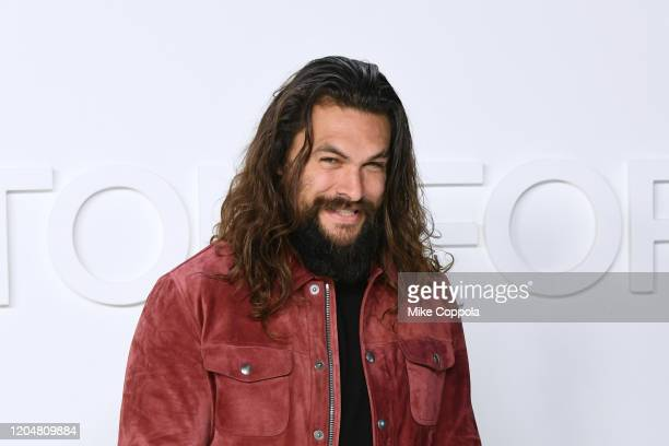 Actor Jason Momoa attends the Tom Ford AW20 Show at Milk Studios on February 07 2020 in Hollywood California