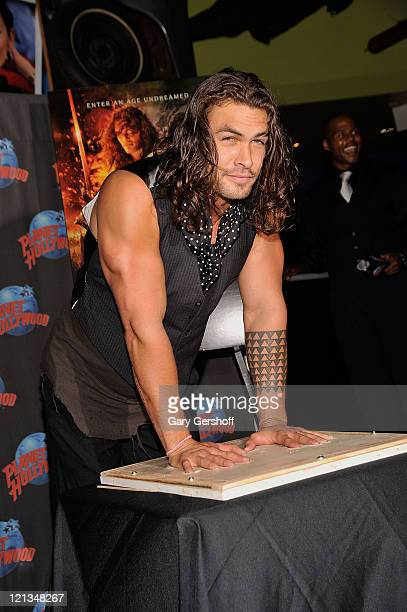 Actor Jason Momoa visits Planet Hollywood Times Square on August 18 2011 in New York City